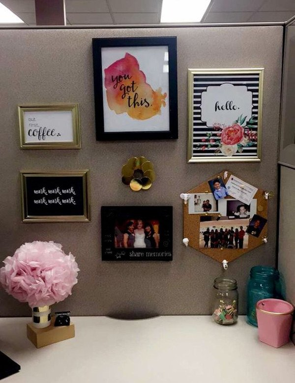 Office Decor Ideas for Work Awesome 20 Creative Diy Cubicle Workspace Ideas