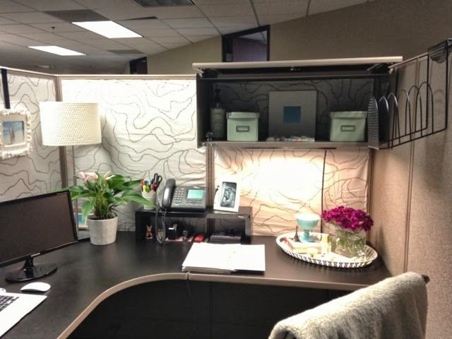 Office Decor Ideas for Work Beautiful while I M Here Cubicles Suck A Makeover Love Love Pinterest
