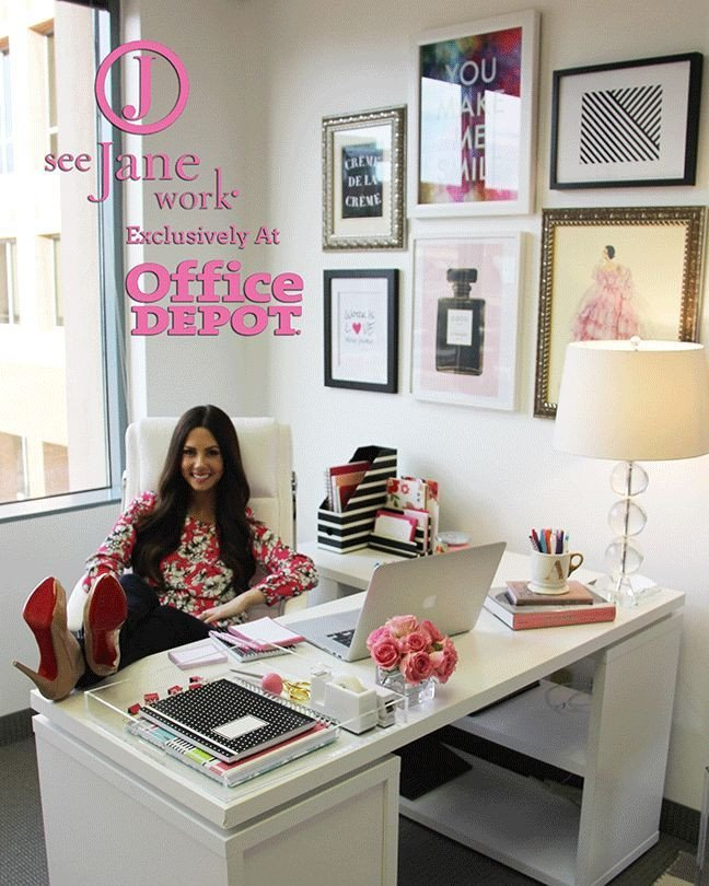 Office Decor Ideas for Work Lovely the sorority Secrets Workspace Chic with Fice Depot See Jane Work Ali S Picks