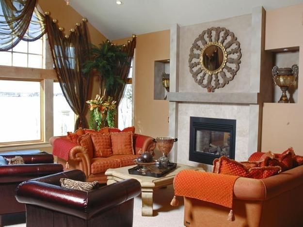 Orange Traditional Living Room Best Of 25 Ideas for Modern Interior Decorating with orange Color Shades