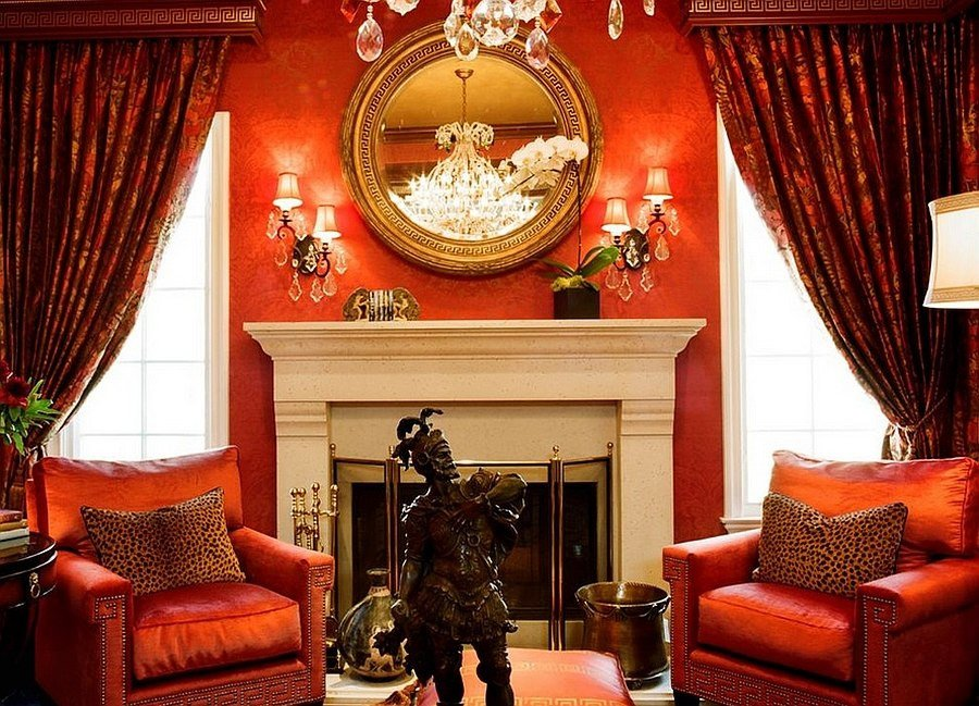 Orange Traditional Living Room Fresh Red Living Rooms Design Ideas Decorations S