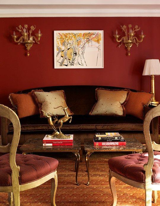 Orange Traditional Living Room Inspirational Palette the Power Of Red