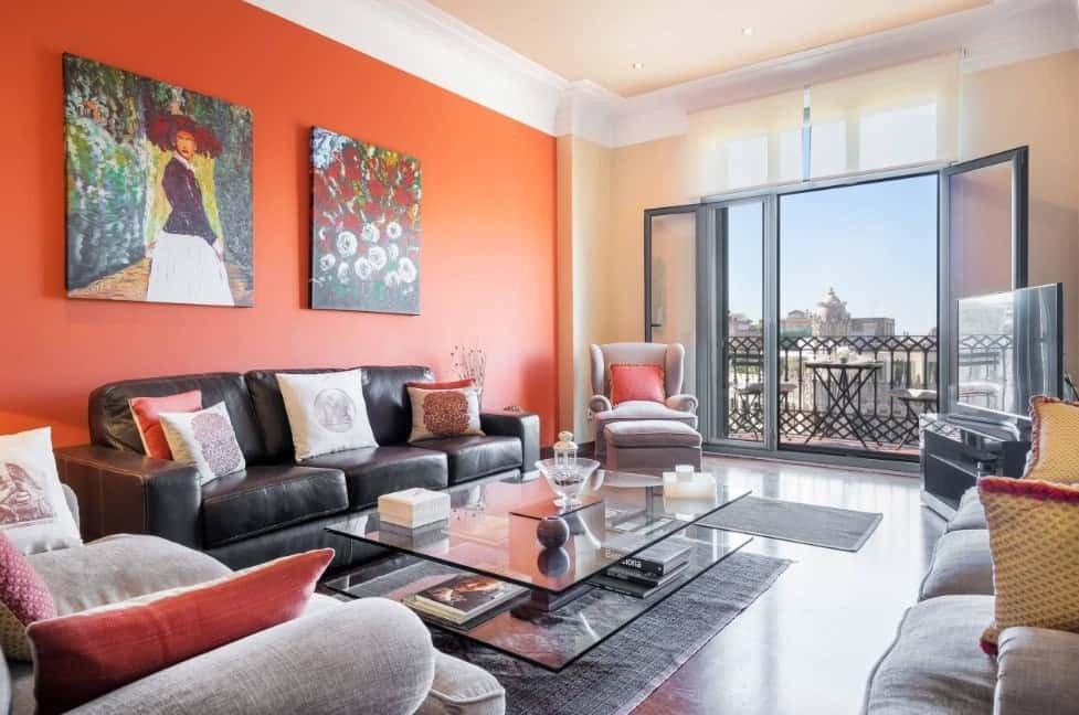 Orange Traditional Living Room Lovely 40 orange Living Room Ideas S
