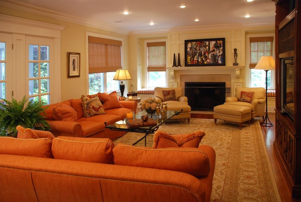 Orange Traditional Living Room Luxury Burnt orange sofa Living Room Contemporary with Burnt orange Couch