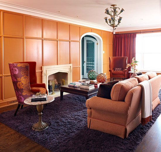 Orange Traditional Living Room New Decorating with orange An Instant Pick Me Up