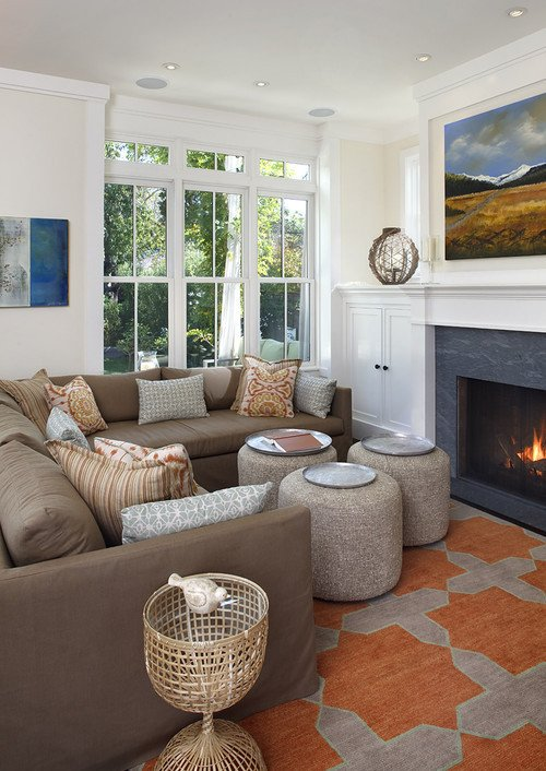 Orange Traditional Living Room New I Love the orange Taupe Rug In the Photo and Wonder where I Could Purchase One
