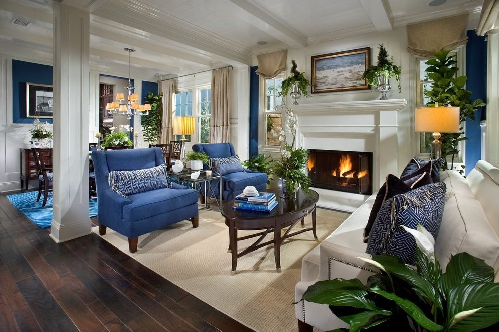 Orange Traditional Living Room New orange County Navy Blue sofas Living Room Traditional with Furniture Made area Rugs Wingback Chair