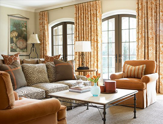 Orange Traditional Living Room Unique Decorating with orange An Instant Pick Me Up