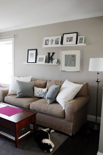 Over the Couch Wall Decor Awesome Crafty Teacher Lady Shelves and Frames Home In 2019