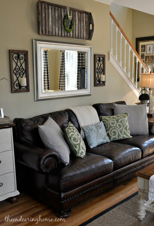 Over the Couch Wall Decor Awesome Updated Family Room tour
