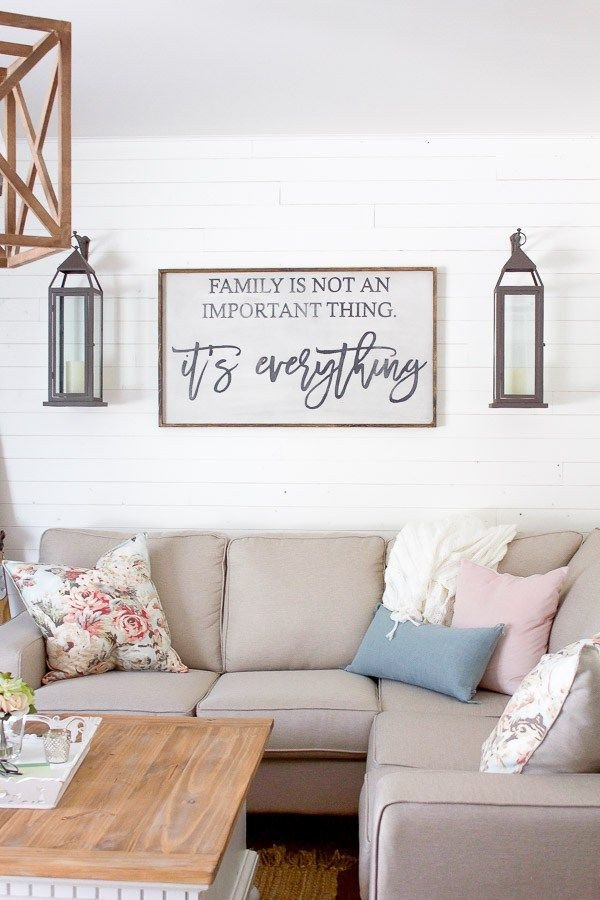 Over the Couch Wall Decor Lovely A Bright Airy Farmhouse Style Spring Living Room Living Rooms