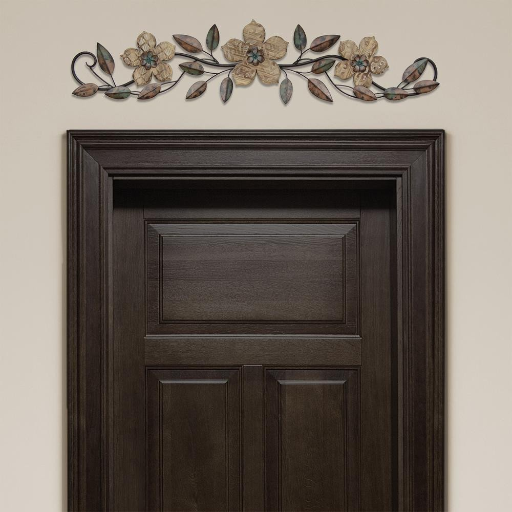 Floral Patterned Wood Over the Door Wall Decor S The Home Depot