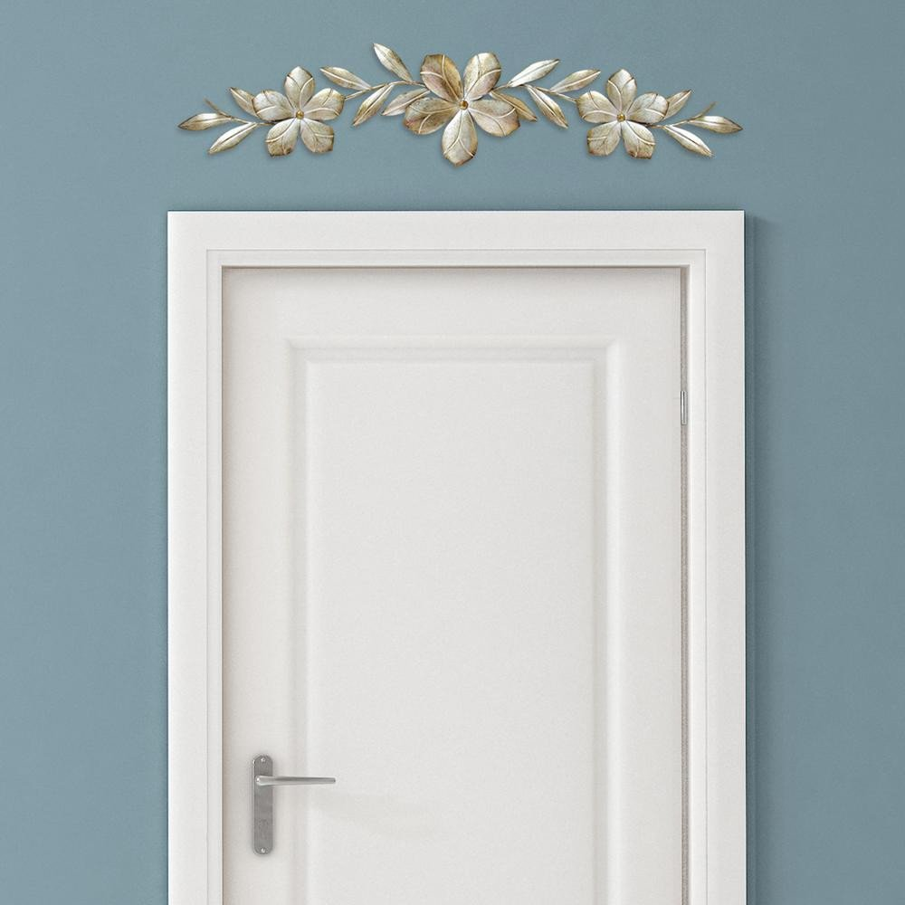 Over the Door Wall Decor Beautiful Champagne Metal Flower Over the Door Wall Decor S the Home Depot
