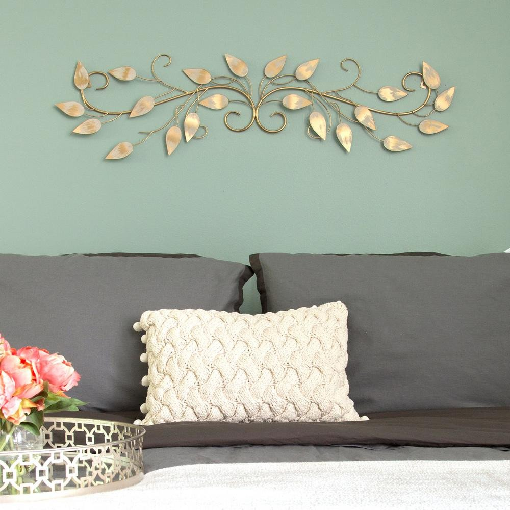 Over the Door Wall Decor Fresh Stratton Home Decor Brushed Gold Over the Door Metal Scroll Wall Decor S the Home Depot