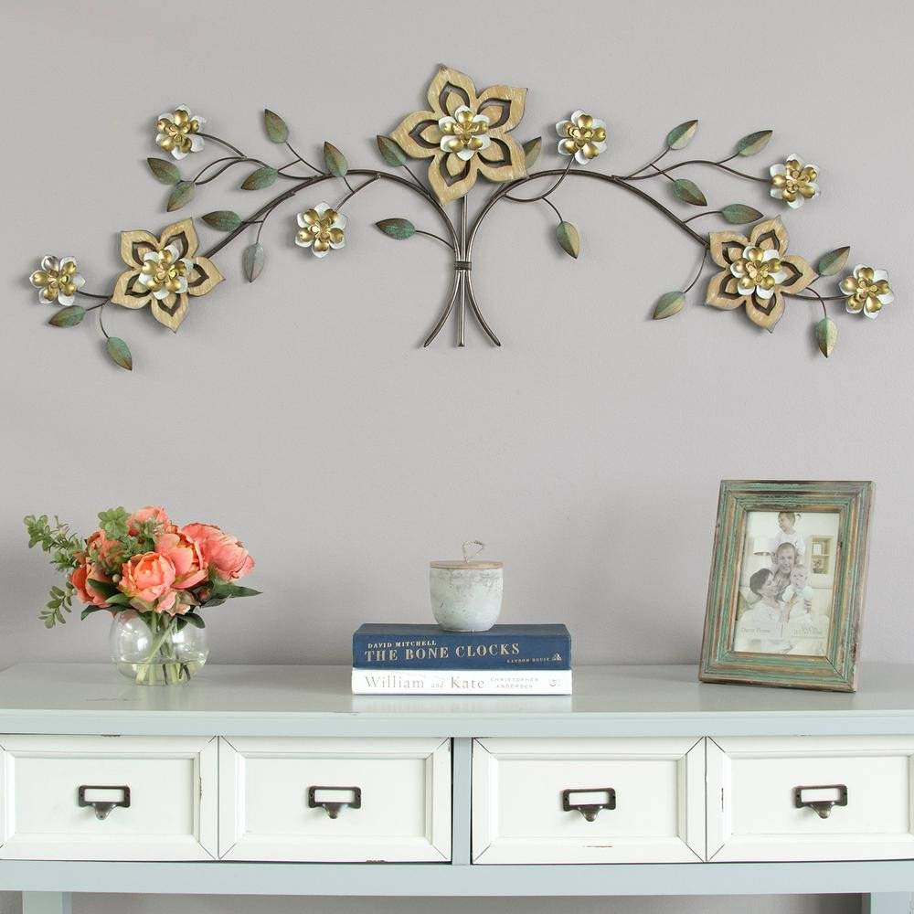 Over the Door Wall Decor Fresh Stratton Home Decor Wood Flower Over the Door Metal Wall Decor S the Home Depot