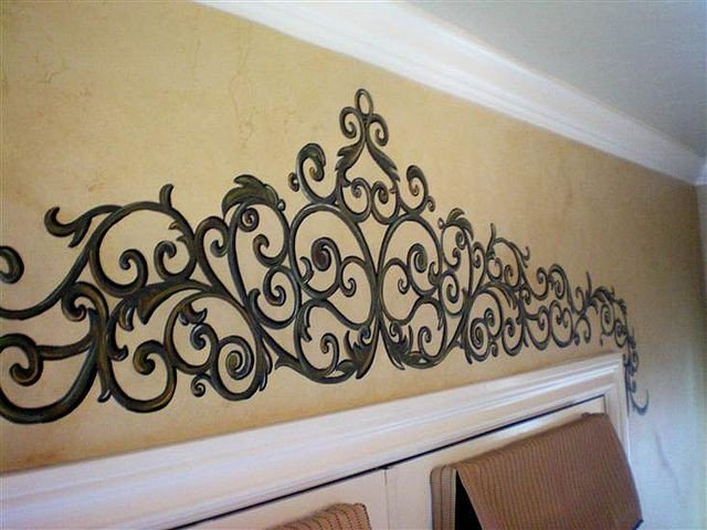 Over the Door Wall Decor New Painted Wrought Iron Over French Doors Wrought Iron Pinterest