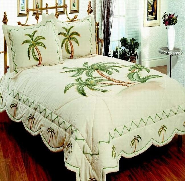 palm themed bedding Beautiful Tropical Palm Tree Bedding to Make Your Bedroom like
