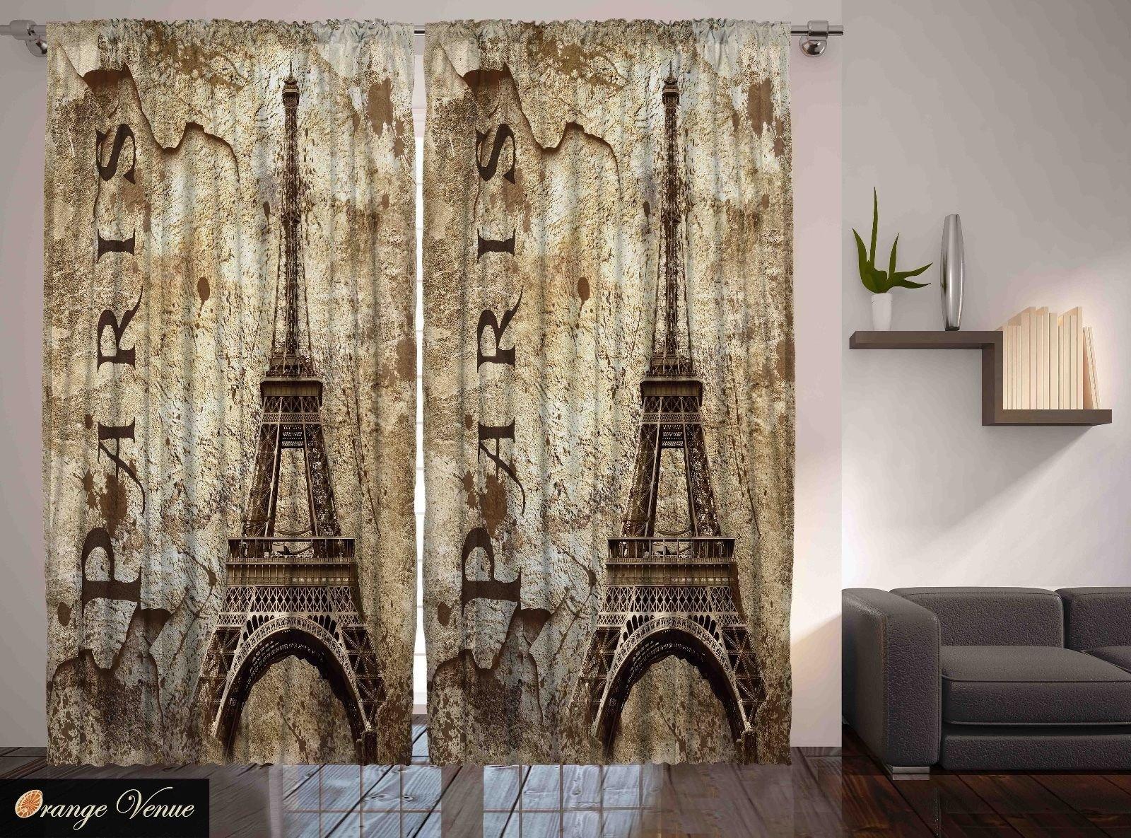 Paris themed Living Room Decor Best Of Paris Decor Eiffel tower Parisian Cityscape themed Living Room Curtain 2 Panels