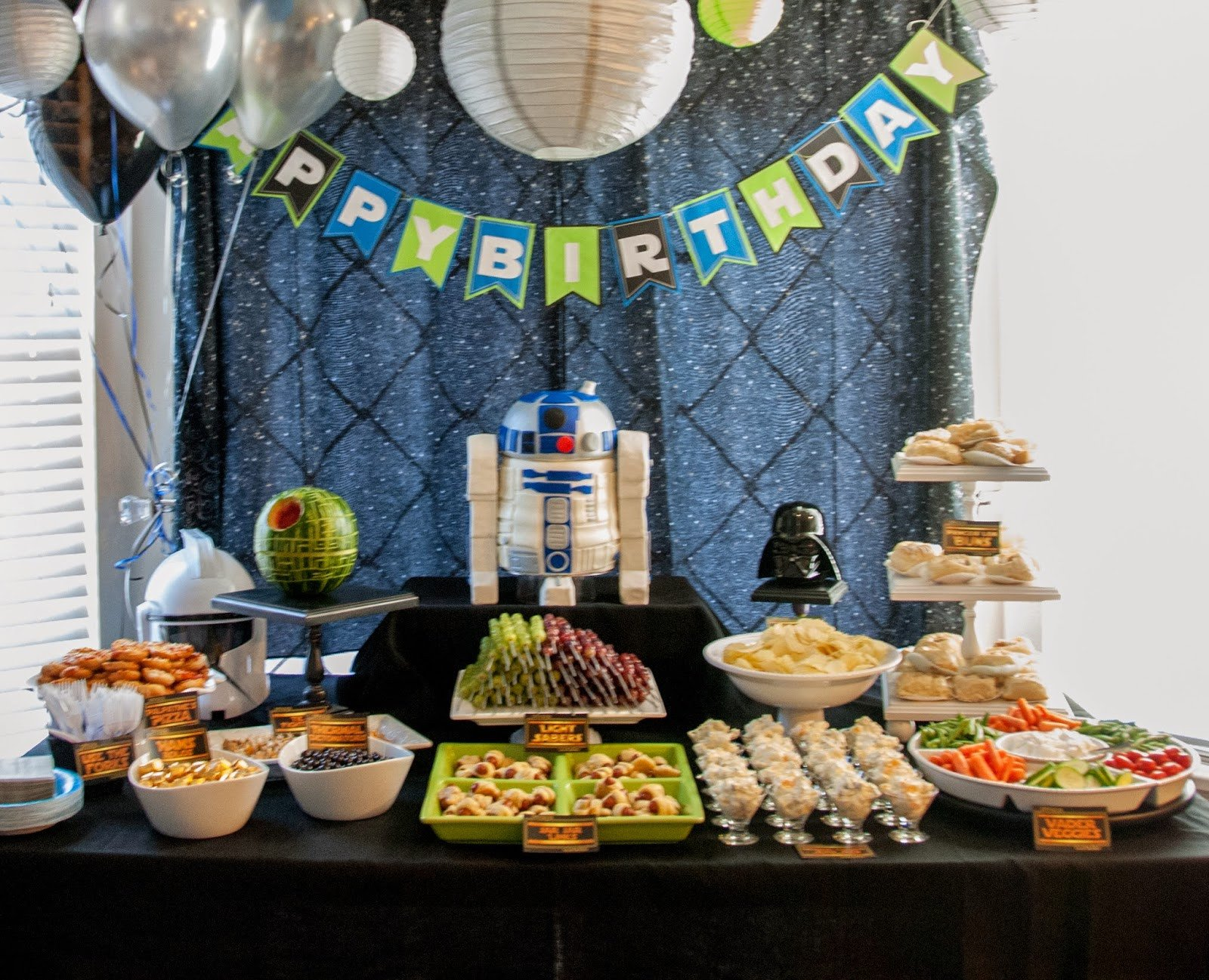 Party Decor Ideas for Adults Awesome Author Robin King Blog Star Wars Party with R2d2 Cake