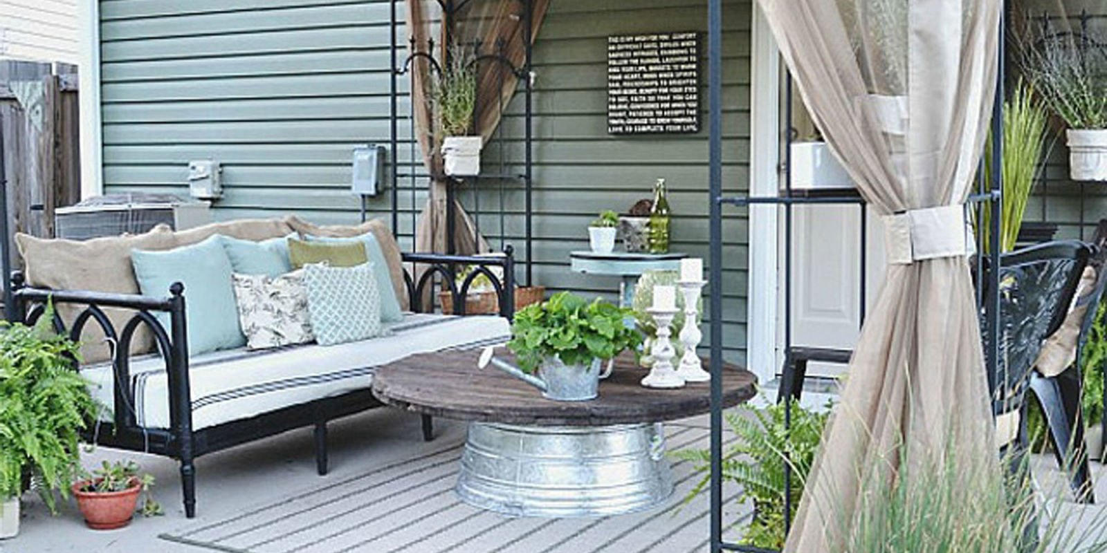 Patio Decor On A Budget Awesome Liz Marie Blog Patio before and after Patio Decorating Ideas