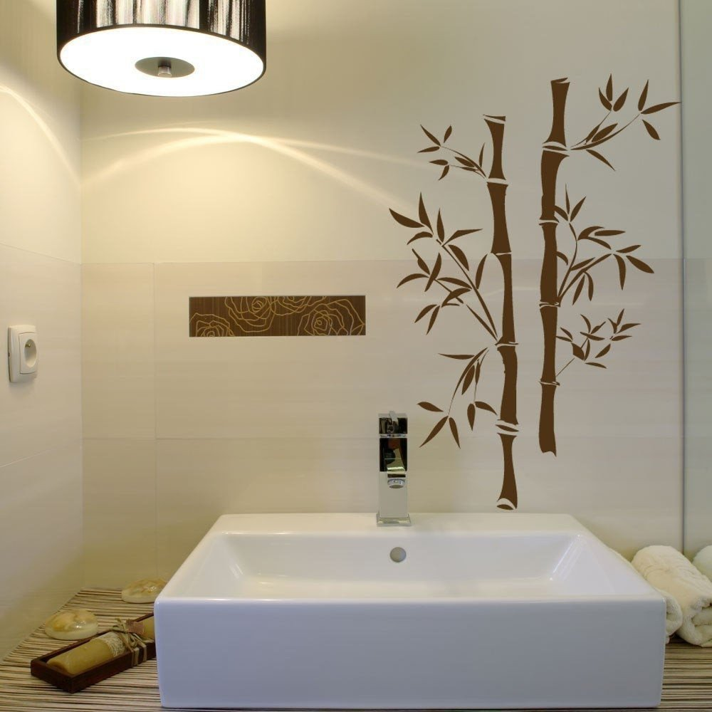 Pictures for Bathroom Wall Decor Elegant asian Bamboo Wall Decals Your Choice Of Color