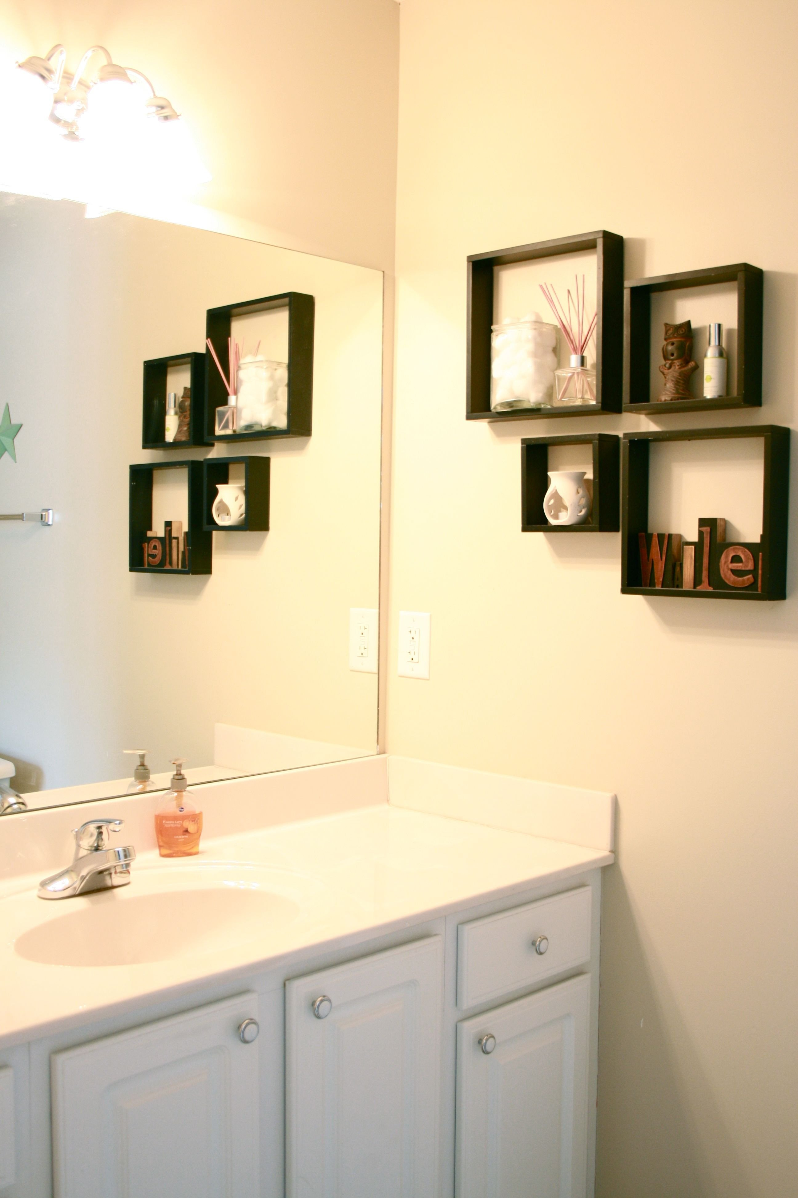 Pictures for Bathroom Wall Decor Lovely Chic Bathroom Wall Shelving Ideas for Cleaner Bathroom Interior