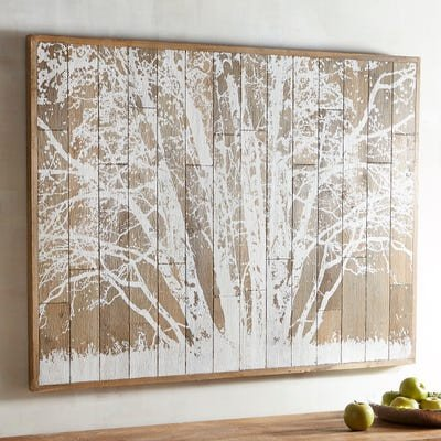 Pier 1 Imports Wall Decor New Frosted Tree Planked Wall Decor