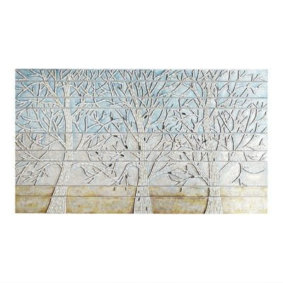 Pier One Imports Wall Decor Lovely Blue Shimmering Trees Mosaic Wall Decor