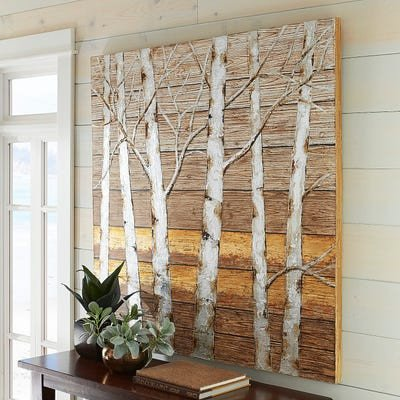 Pier One Imports Wall Decor Luxury Metallic Birch Trees Wall Art