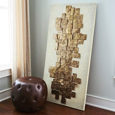 Pier One Imports Wall Decor Luxury Sculpted Metal On Canvas Wall Decor