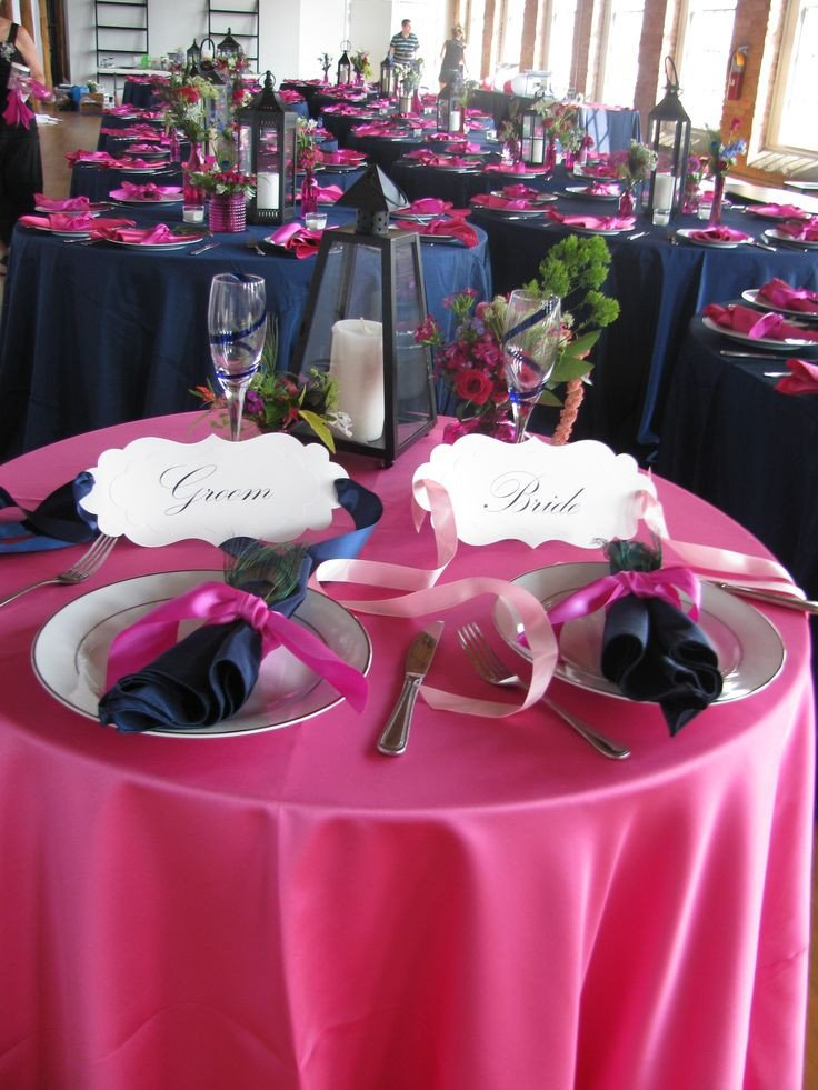Pink and Blue Wedding Decor Awesome 17 Best Images About Royal Blue Wedding Reception On Pinterest