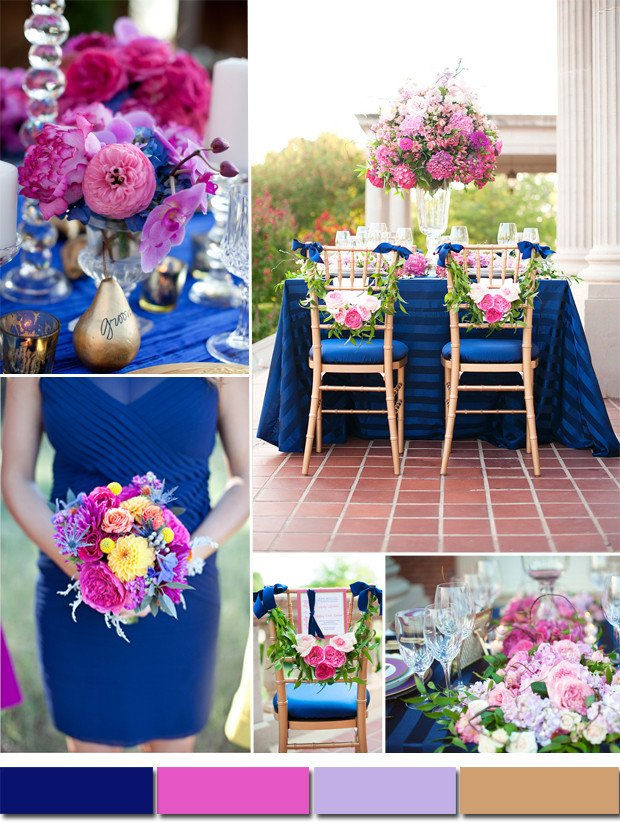 Pink and Blue Wedding Decor Awesome Royal Blue and Pink Wedding Colors
