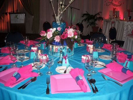 Pink and Blue Wedding Decor Elegant Carl Hart Uses Shades Of Teal Blue and Pink to Interpret the Bride S Decor theme