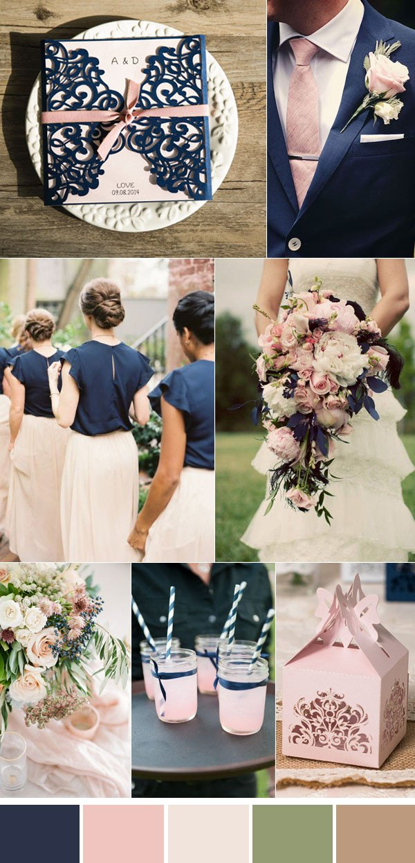 Pink and Blue Wedding Decor Luxury 20 Fabulous Ideas for An Elegant Navy and Pink Wedding
