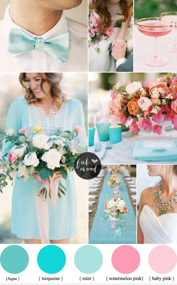 Pink and Blue Wedding Decor Luxury Pink and Turquoise Wedding Ideas Cheerful Duo