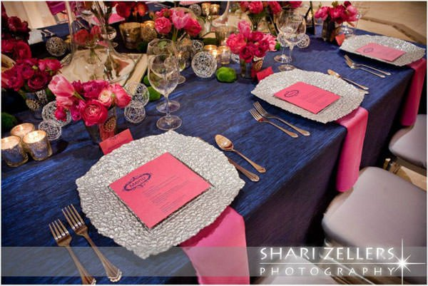 Pink and Blue Wedding Decor Luxury Wedding Color Obsession Navy Blue & Fuchsia Weddingdash