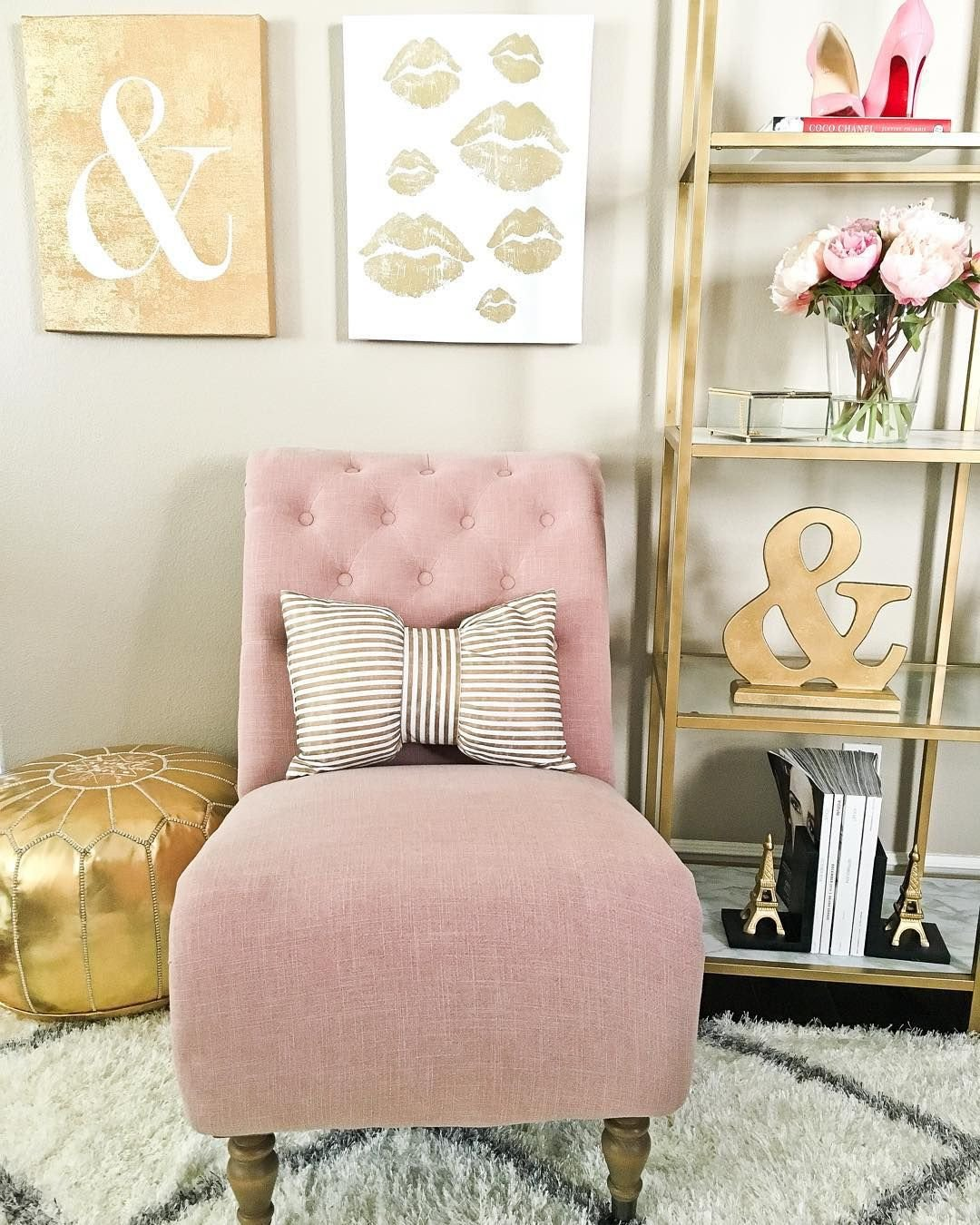 Pink and Gold Bedroom Decor Awesome Pink and Gold Glamorous Living Pinterest
