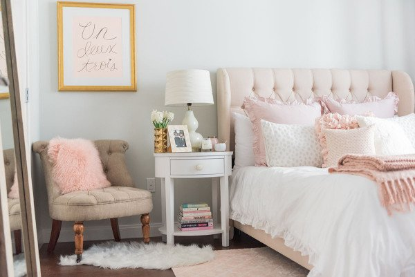 Pink and Gold Bedroom Decor Lovely My Chicago Bedroom Parisian Chic Blush Pink — Bows & Sequins