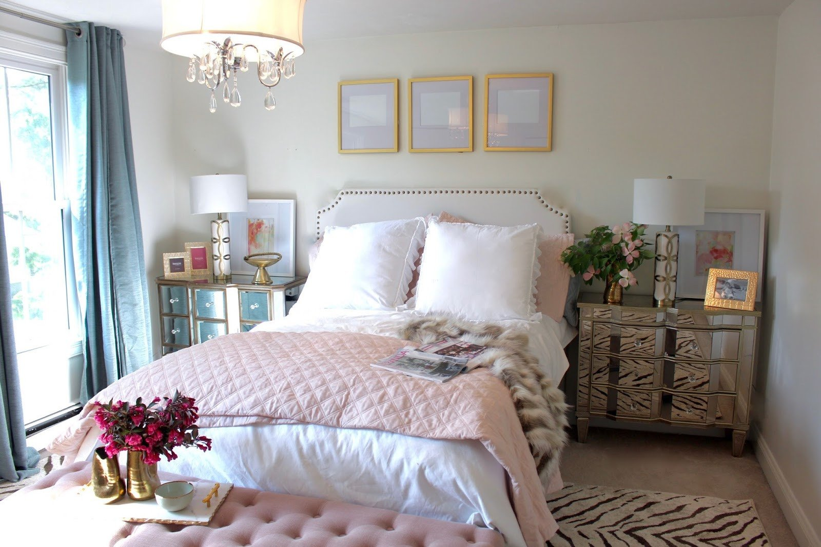 Pink and Gold Bedroom Decor Unique Room Reveal Pink and Gold Feminine Bedroom My Guest Room with sources – south Shore