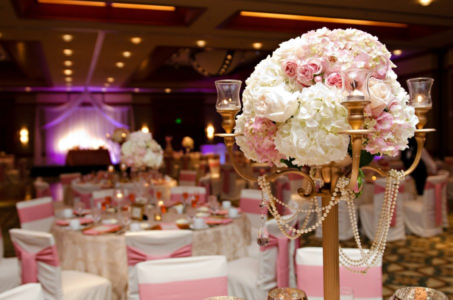 Elegant Pink and Gold Florida Wedding