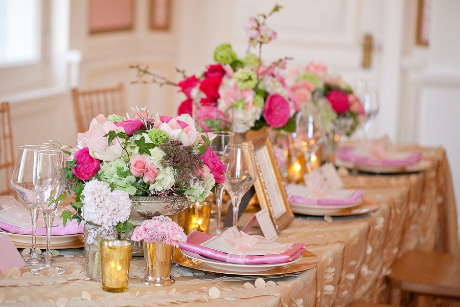 Pink and Gold Wedding Decor Inspirational Vintage Pink Green and Gold Wedding Decor Ideas Elizabeth Anne Designs the Wedding Blog