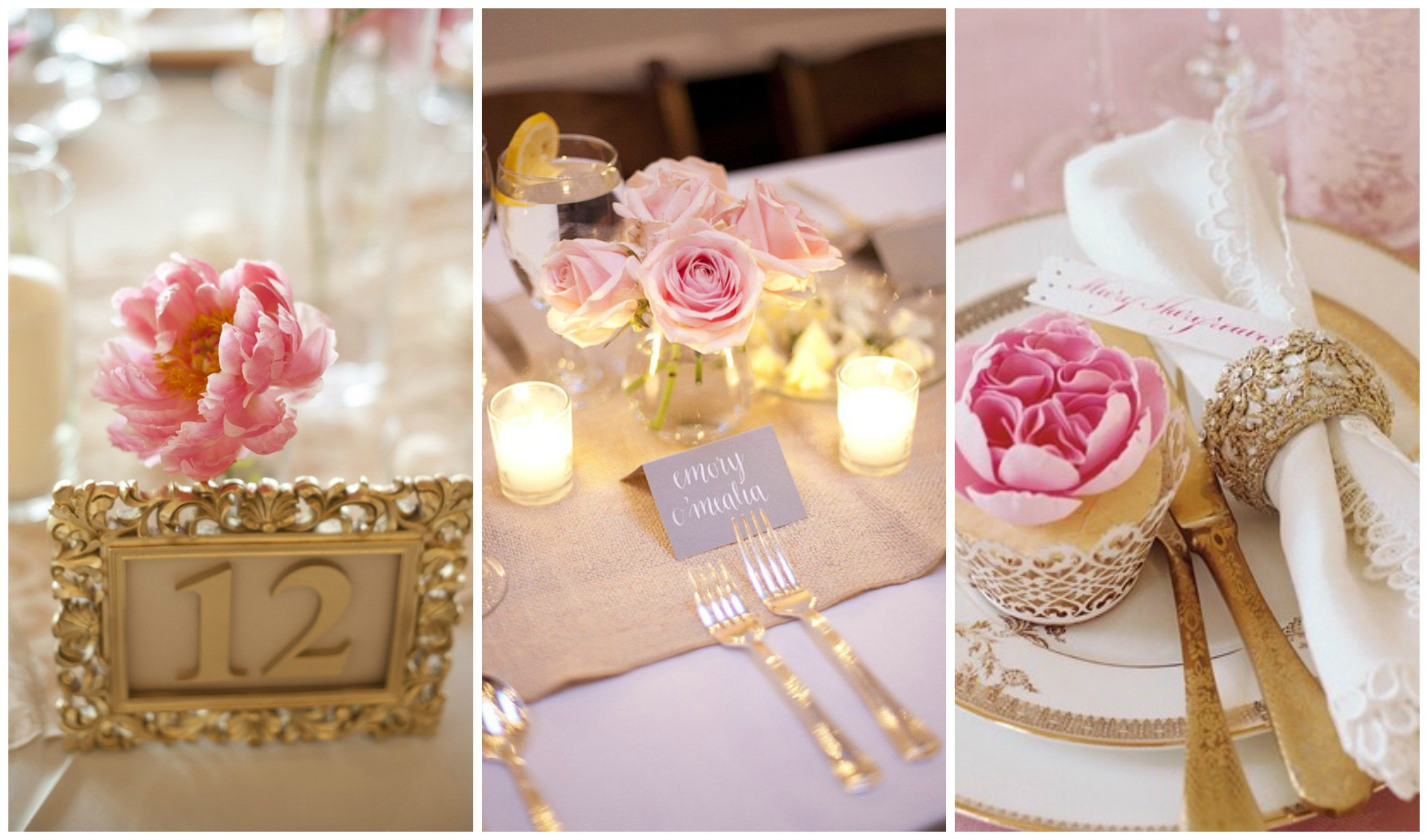 Pink and Gold Wedding Decor Lovely Blush Pink and Gold Wedding Inspiration E Charming Day