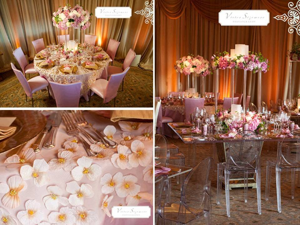 Pink and Gold Wedding Decor Luxury Pink Gold and Cream Wedding