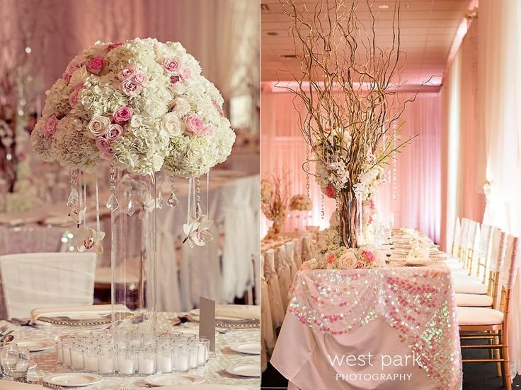 Pink and Gold Wedding Decor New Elegant Pink Detroit Wedding Reception 05 Pink & Gold Wedding Inspiration