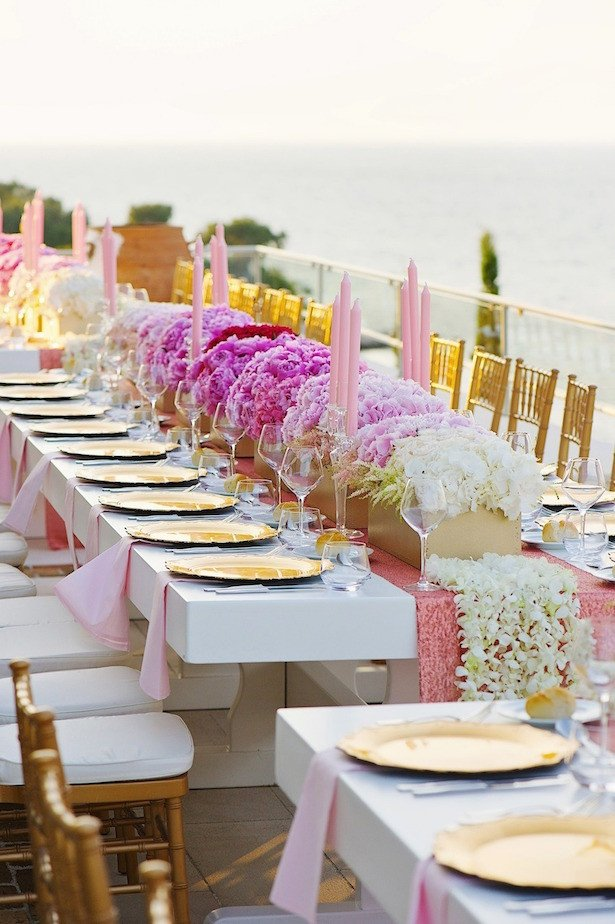 Pink and Gold Wedding Decor New Fabulous Long Wedding Tables Belle the Magazine