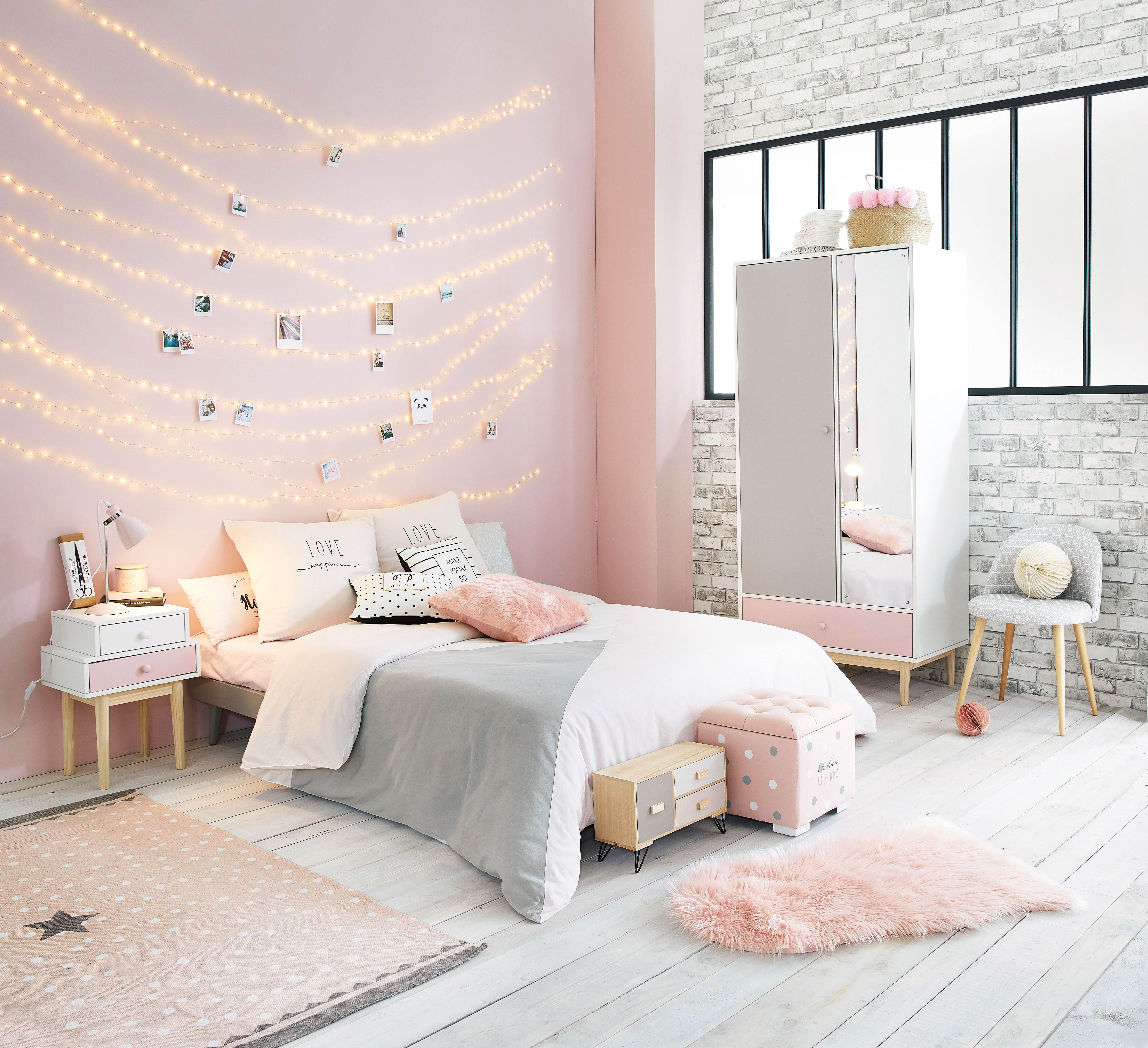 Pink and Gray Bedroom Decor Awesome Pink White and Grey Girl S Bedroom Maisons Du Monde Future Room Pinterest