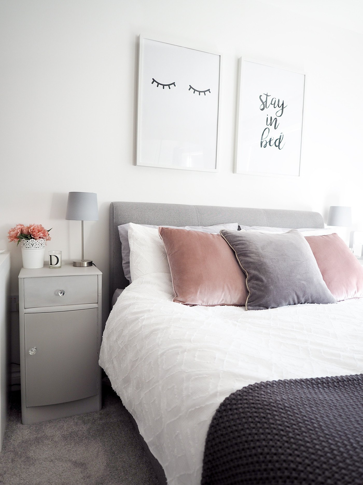 Pink and Gray Bedroom Decor Fresh Bedroom tour