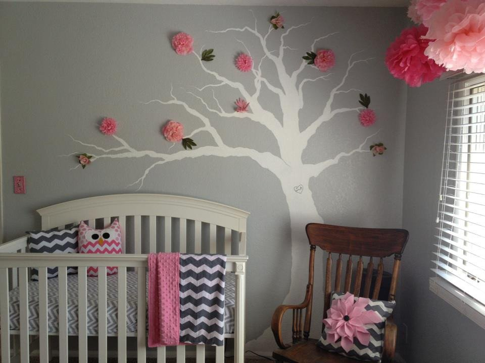 Pink and Gray Room Decor Elegant Pink & Grey Chevron Nursery Project Nursery
