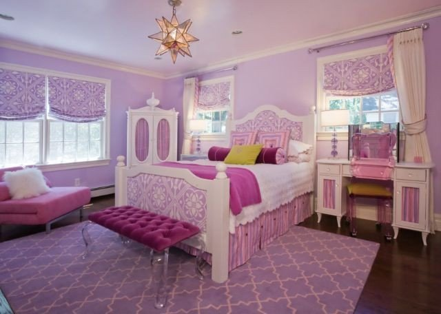 Pink and Purple Room Decor Awesome Pink White Purple Girls Room Home Ideas Pinterest