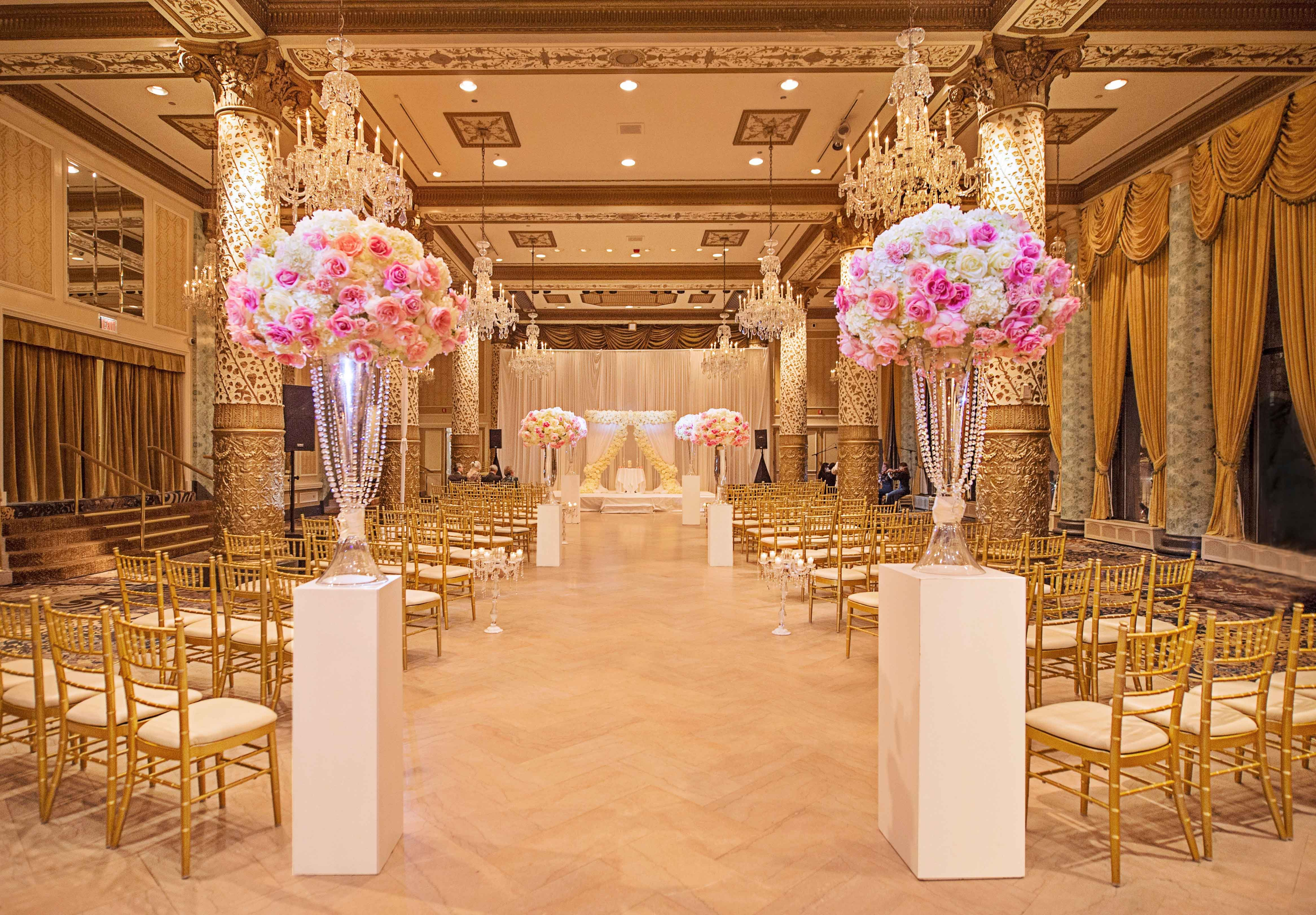 Pink and White Wedding Decor Beautiful Wedding Color Palette Pink and Gold Wedding Ideas Inside Weddings